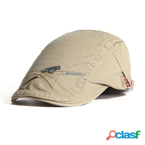 Chapéu para homens com protetor solar material de algodão chapéu ao ar livre casual com cor sólido atacante chapéu de estilo beret