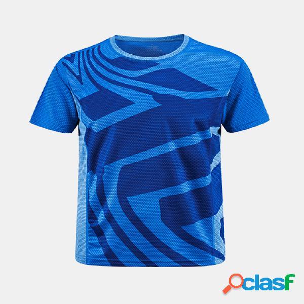 Esportes ao ar livre de secagem rápida manga curta aptidão ciclismo yoga t-shirt para homens
