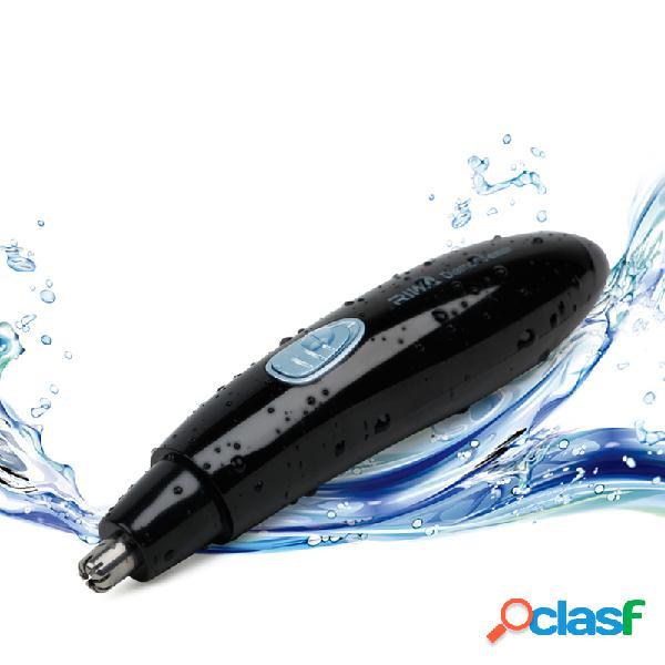 2 em 1 aparador de pêlos do nariz elétrico aparador de pêlos do nariz sobrancelhas recarregáveis à prova d 'água dos homens