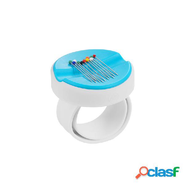 Moda clip suprimentos 5 cores rodada ímã caixa de artesanato diy e acessórios de costura