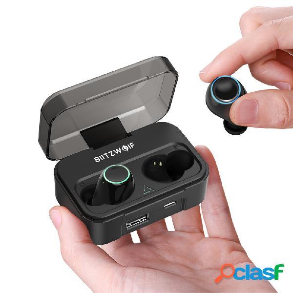 bw-fye3 true wireless bluetooth 50 fone de ouvido hifi chamadas bilaterais com banco de potência de 2600mah