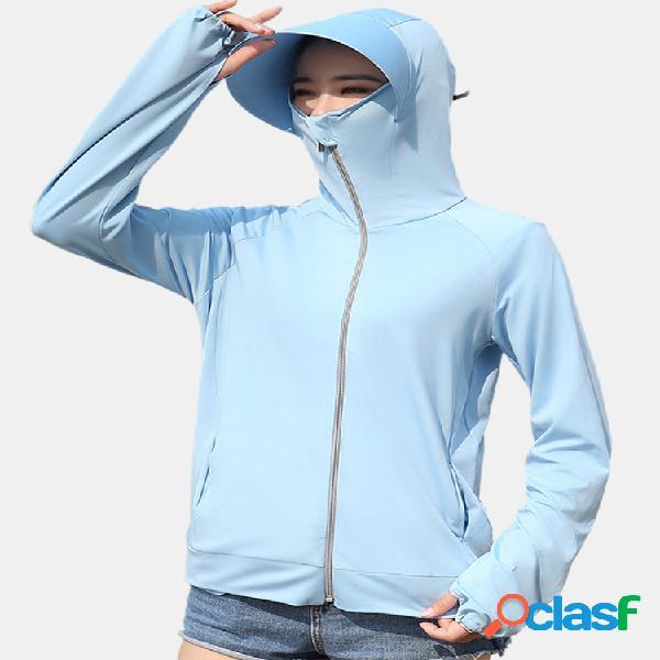 Proteção solar rash guard capuz manga comprida desempenho camisa