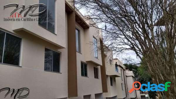䷶sobrados novos à venda condomínio fechado ahú - curitiba