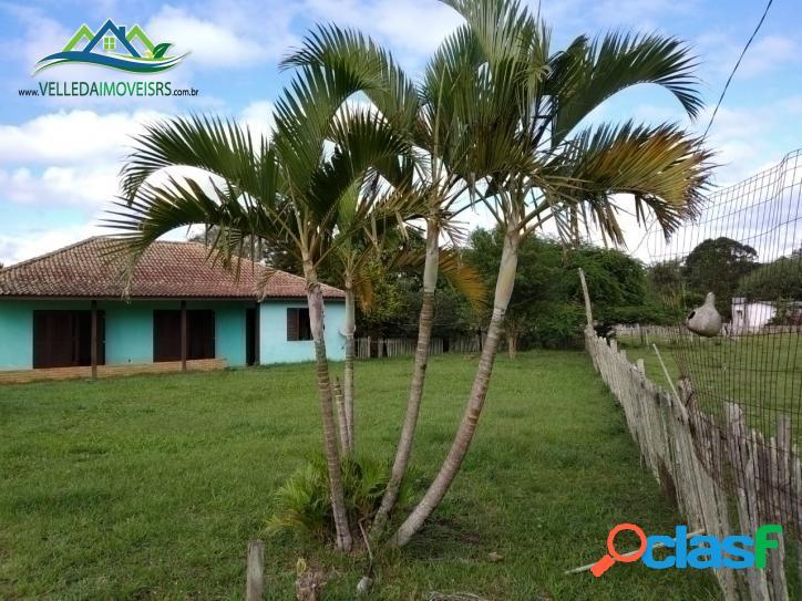 Velleda oferece sítio 2 hectares, casa ampla, com 2 açudes, 4 km da rs 040,