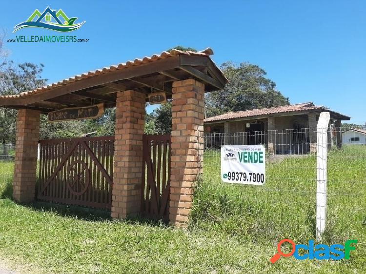 Velleda oferece casa em cond. fechado, terreno 1674m², frente p/ lagoa