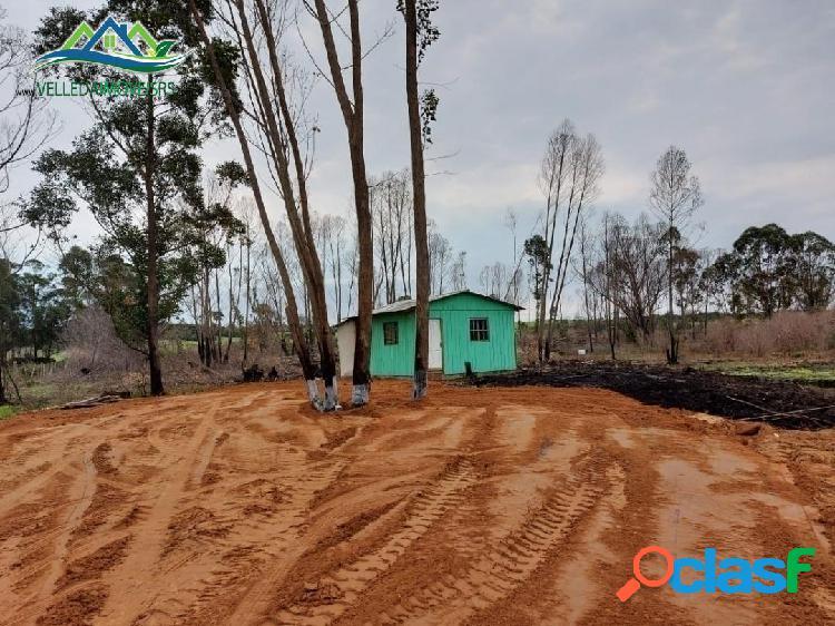 Velleda oferece sítio 1500 m² com casa, açude, 1 km do asfalto 1
