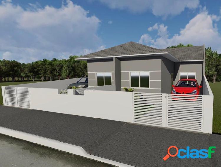 Casa com 2 dormitórios a venda, 55,11 m² por r$ 179.000,00 - forquilhas sj