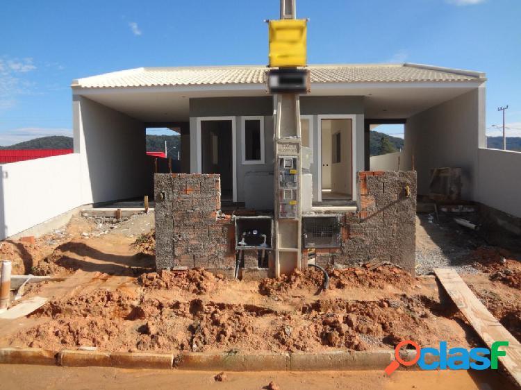 Casa com 2 dormitórios a venda, 66 m² por r$ 180.000,00 - forquilhas