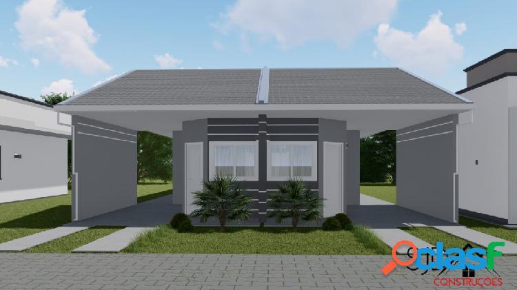 Casa com 2 dormitórios a venda, 65,63 m² por r$ 180.000,00 - forquilhas