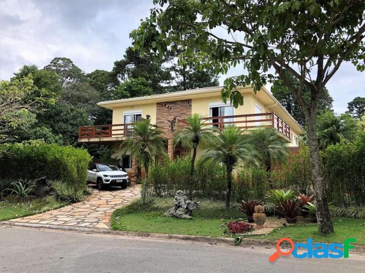 Casa com 4 dormitórios à venda, 585 m² por r$ 3.550.000 - chácaras são carlos - cotia/sp