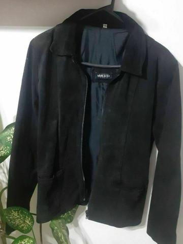 Casaco de couro legítimo mercatto tamanho g