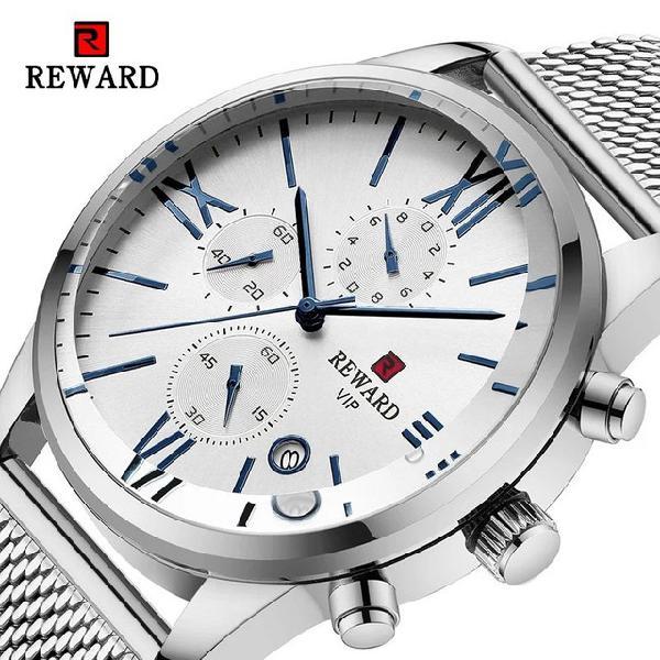 Relógio masculino importado original reward super luxuoso