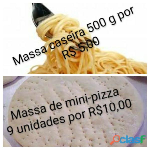 Massa caseira e de mini pizza
