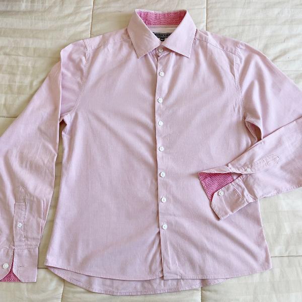 Camisa esporte fino rosa handbook