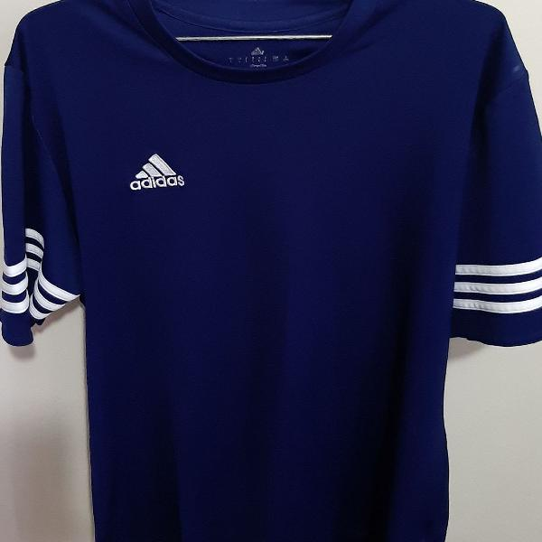 Camiseta adidas original, azul tamanho g