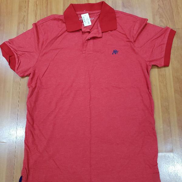 Camiseta polo aeropostale vermelho - tam. m