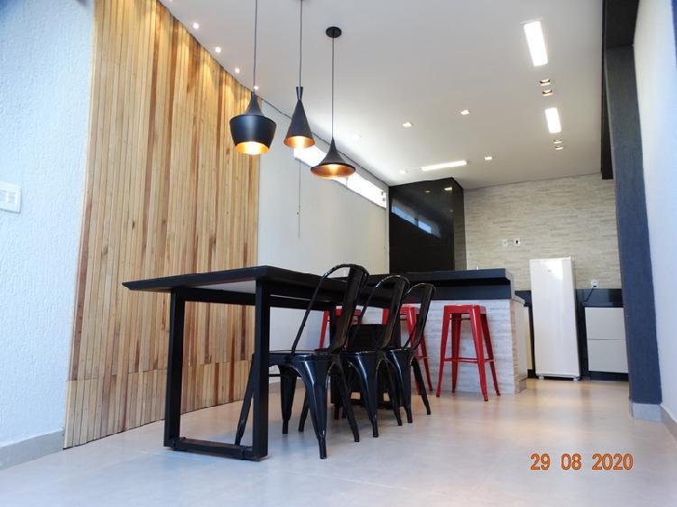 Casa geminada moderna 3 quartos toda mobiliada - direto com
