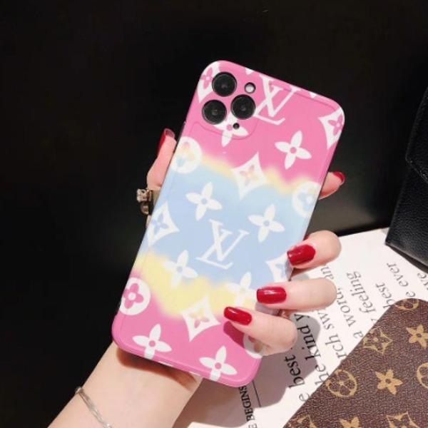 Case capa iphone 11 pro max (6.5) tie dye louis vuitton