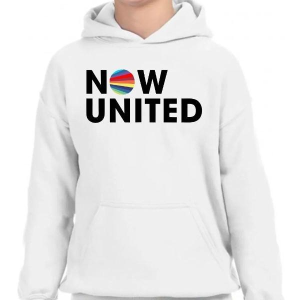 Moletom infantil now united banda blusa agasalho de frio top