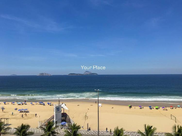 Praia do leblon 300 m2 com varanda e 4 quartos com súite
