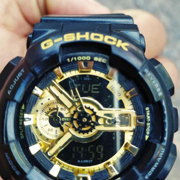 Relogio g-shock ga 110 gb preto/dourado original