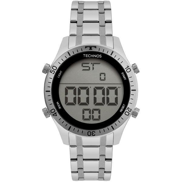 Relógio technos masculino racer prata