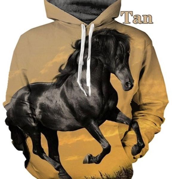 Blusa moletom masculino personalizado 3d full desenho cavalo