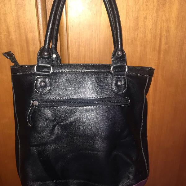 Bolsa mickey, colorida e fundo preto, material courino