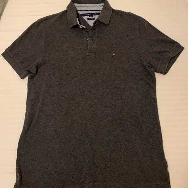 Camisa polo cinza tommy
