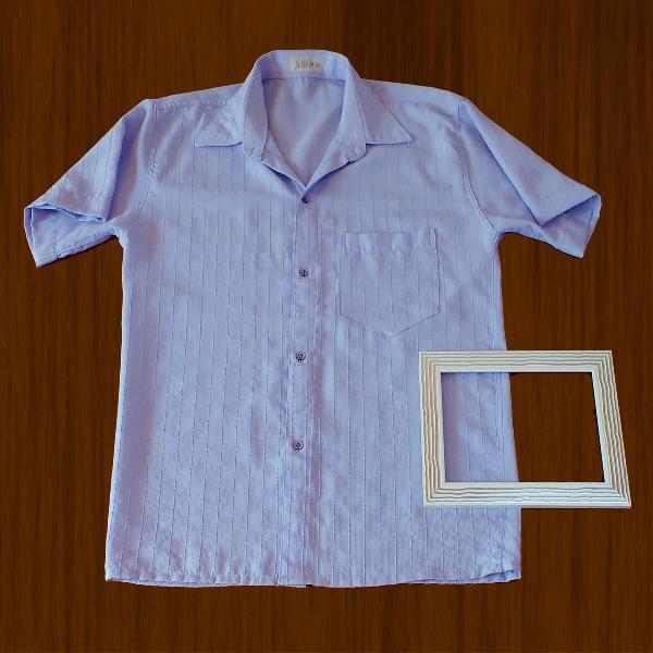 Camisa social masculina manga curta com bolso!