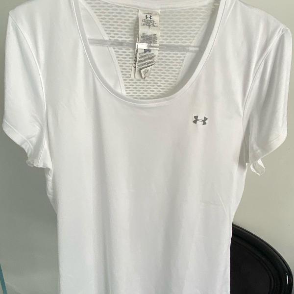 Camiseta esportiva branca da under armour