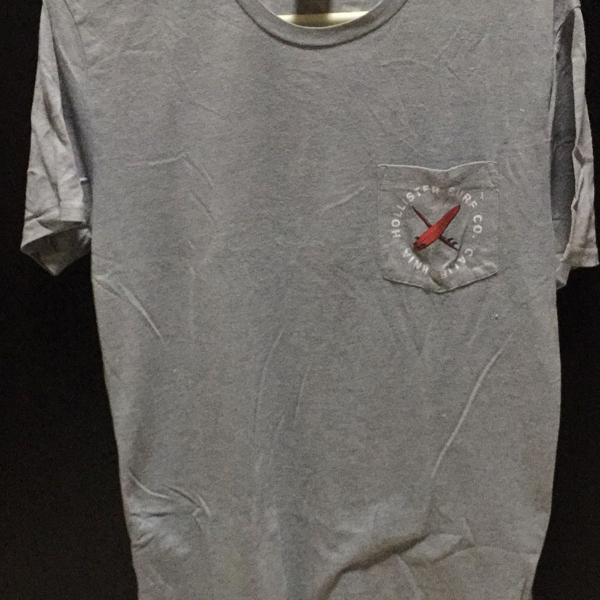Camiseta hollister cinza tamanho m