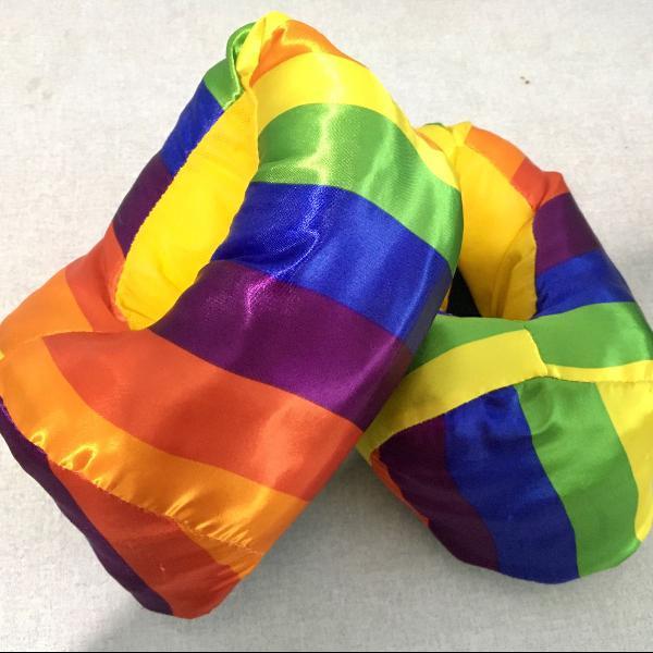 Pantufa arco íris