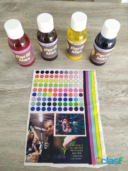 Tintas para sublimação + Perfil de cores para sua impressora + Limpeza em sua impressora 1