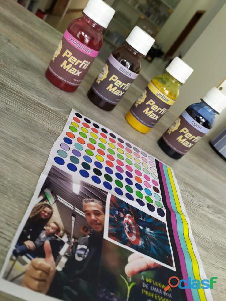 .Tintas para sublimação + Perfil de cores para sua impressora + Limpeza em sua impressora