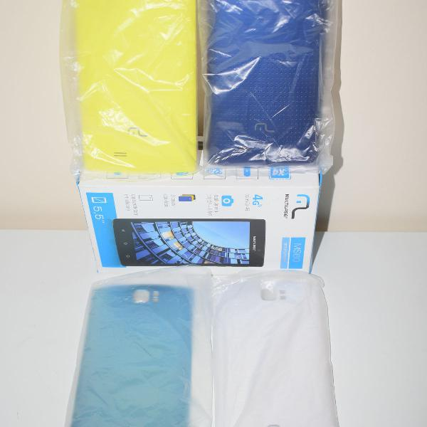 04 cases coloridas para celular ms60 smartphone multilaser
