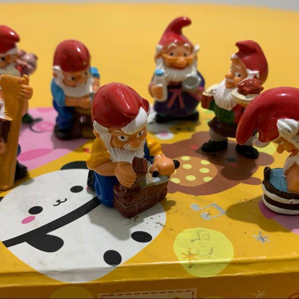 7 miniaturas anões do kinder