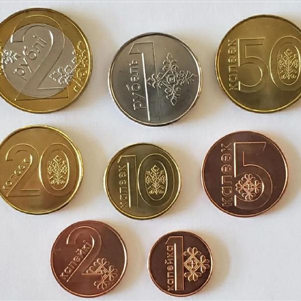 Bielo russia set completo com 8 moedas 2009 fc com bimetal!