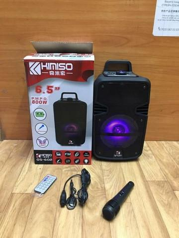 Caixa de som amplificadora kimiso qs602 - 800 watts