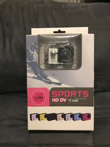Câmera sports hd dv