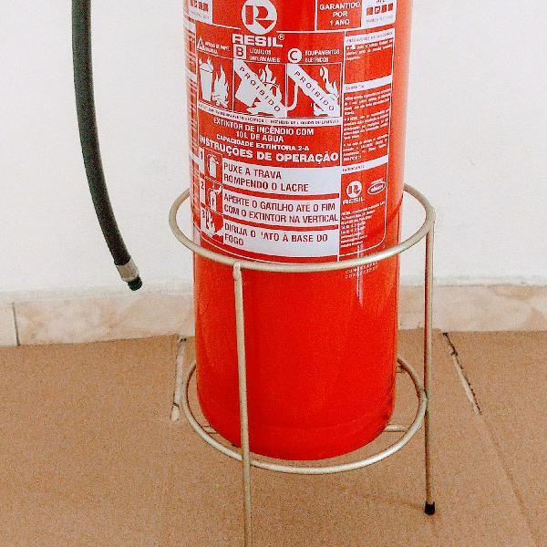 Extintor de água + suporte de chão