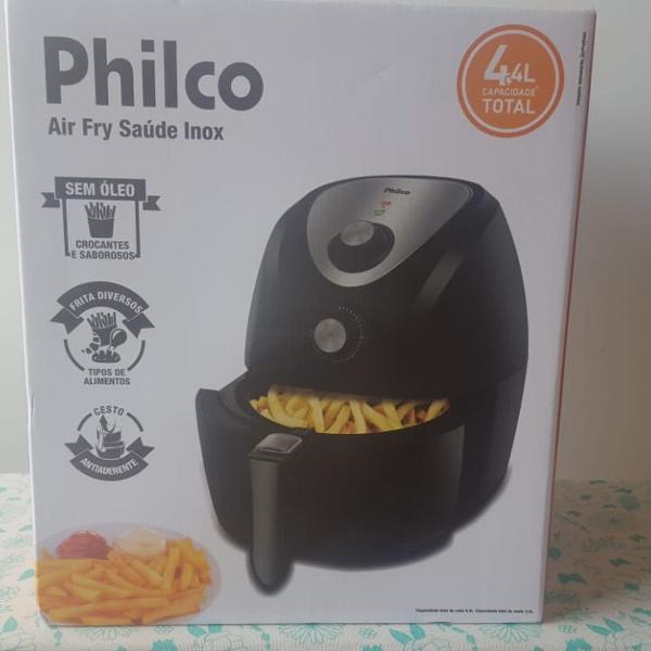 Fritadeira sem óleo philco air fry saúde inox 3,2 l 110v