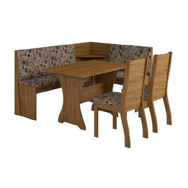 Mesa de jantar canto loby n 2 cadeiras napoli