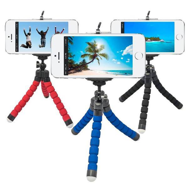 Mini tripé para celular e câmera flexível promoção