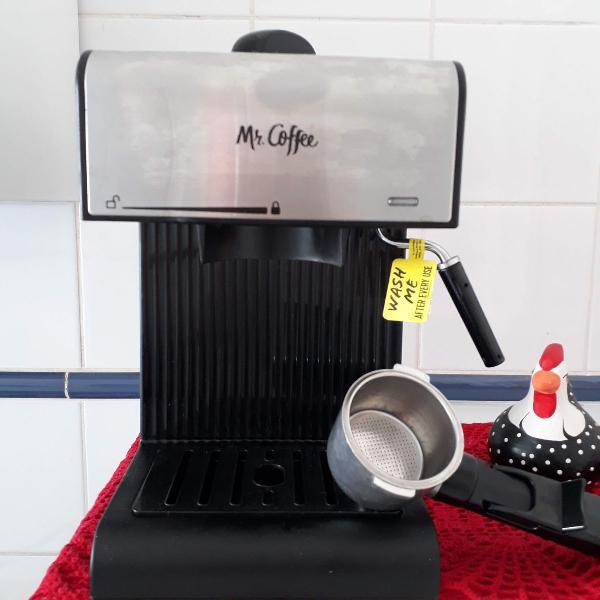 Máquina café expresso, cappuccino profissional mr. coffee