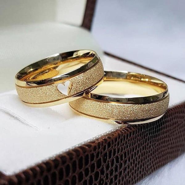 Par aliança de casamento + anel noivado