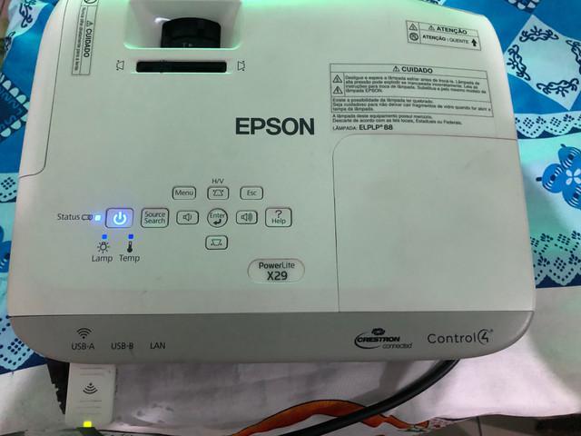 Projetor epson x29 wi-fi completo estado de novo