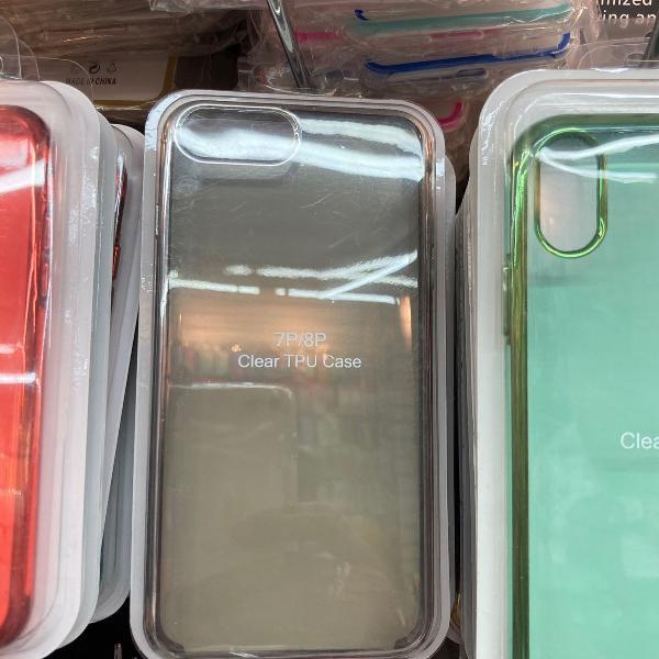 Capa tpu clear cores iphone 7 plus / 8 plus