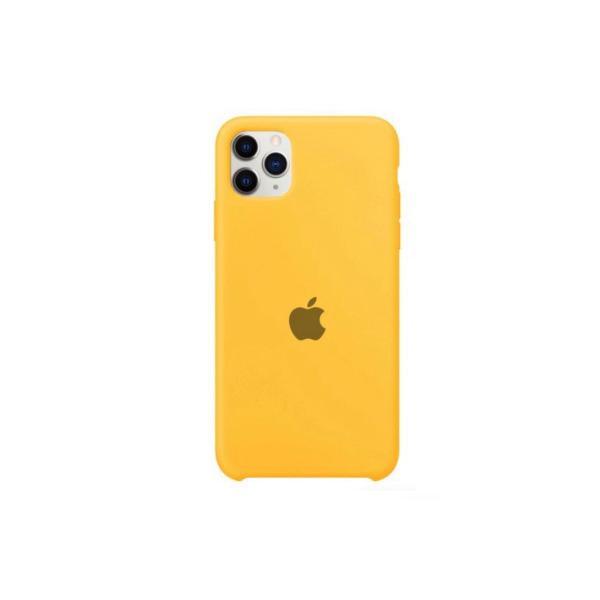 Capinha apple iphone 11 promax silicone aveludado (amarela )