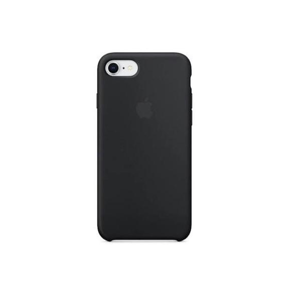 Capinha apple iphone 7/8 silicone aveludado-preta